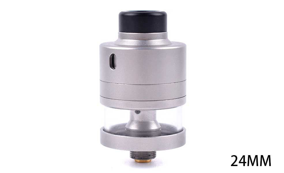 Haku Riviera Style 24mm RDTA Atomizer - Frosted Silver